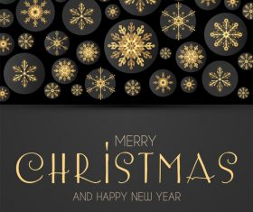 2019 new year with christmas dark background vector 01
