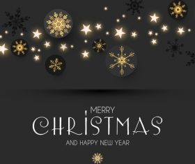 2019 new year with christmas dark background vector 02