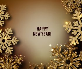 2019 new year with christmas dark background vector 07