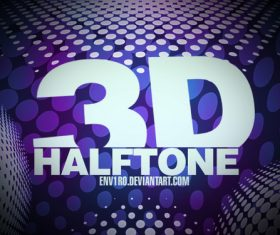 3D Halftone Photoshop Brushes