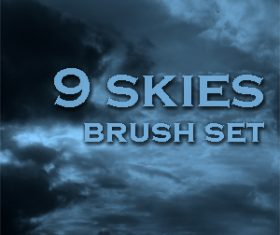 9 Kind Skies Photoshop Brushes