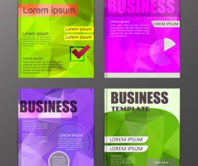 Abstract brochure template business vector 15