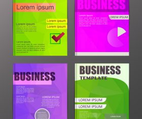 Abstract brochure template business vector 16