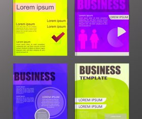 Abstract brochure template business vector 17