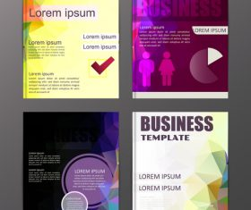 Abstract brochure template business vector 18