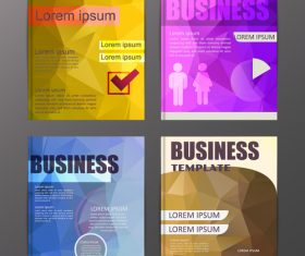 Abstract brochure template business vector 19