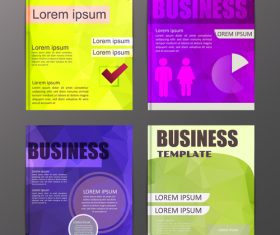 Abstract brochure template business vector 20