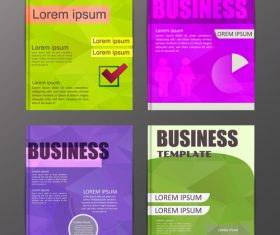 Abstract brochure template business vector 21