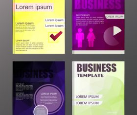 Abstract brochure template business vector 22