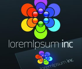 Abstract business logos with sign design vector 05
