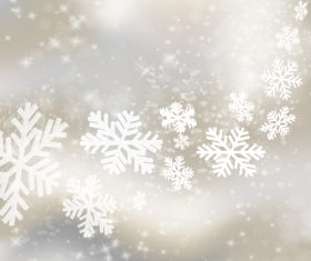 Abstract snow with christmas blurs backgrounds vector