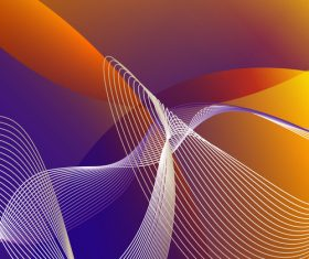 Abstract wave with lines background vector