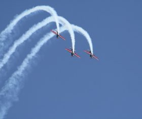 Aircraft flight show Stock Photo 05