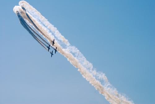 Aircraft flight show Stock Photo 12