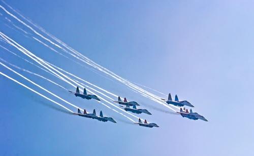 Aircraft flight show Stock Photo 13