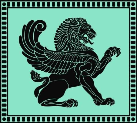 Ancient Lion Shield set vector