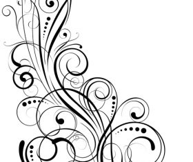 Angle black swirl ornaments design vector 01