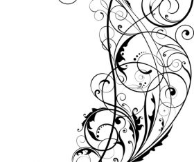 Angle black swirl ornaments design vector 03