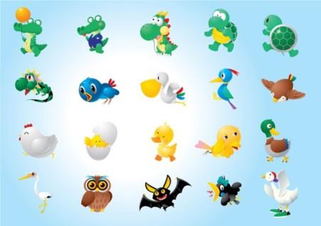 Animal Character Illustrations vector set