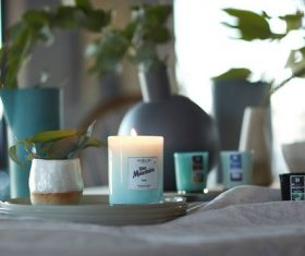 Aromatherapy candle Stock Photo