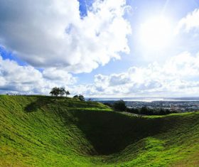 Auckland New Zealand Mount Eden Landscapes Stock Photo 03