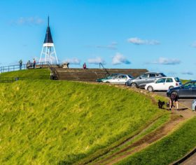Auckland New Zealand Mount Eden Landscapes Stock Photo 05