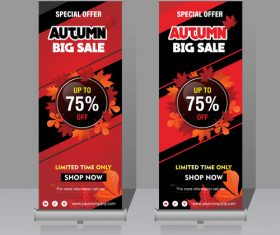 Autumn big sale vertical banner template vector 01