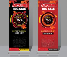 Autumn big sale vertical banner template vector 02