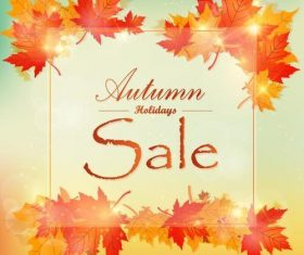 Autumn holiday sale vector material