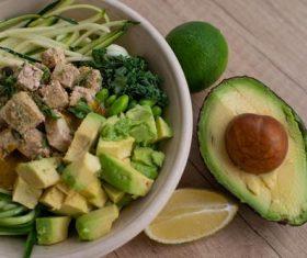 Avocado vegetable salad Stock Photo