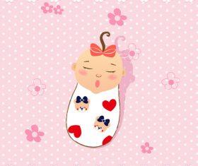 Baby illustration vector