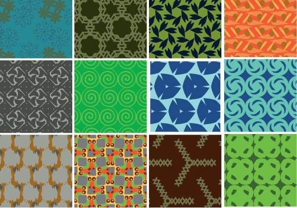 Background tile pattern creative vector