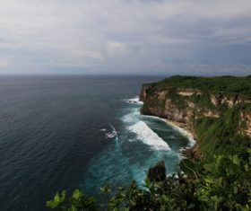 Bali Lovers Cliff Natural Scenery Stock Photo 01