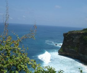 Bali Lovers Cliff Natural Scenery Stock Photo 02