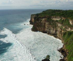 Bali Lovers Cliff Natural Scenery Stock Photo 03