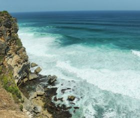 Bali Lovers Cliff Natural Scenery Stock Photo 04