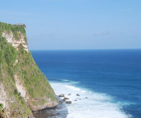 Bali Lovers Cliff Natural Scenery Stock Photo 05
