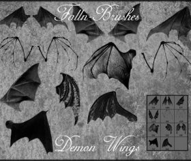 Bat Demon Wings Photoshop Brushes