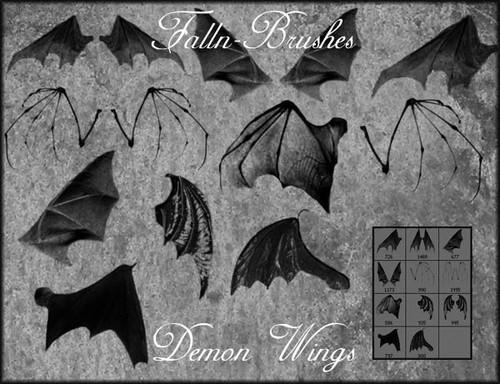 Bat Demon Wings Photoshop Brushes