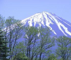 Beautiful Mount Fuji scenery Stock Photo 01