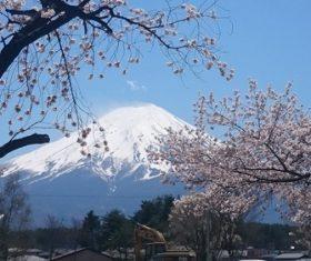Beautiful Mount Fuji scenery Stock Photo 05