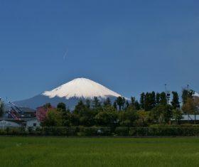 Beautiful Mount Fuji scenery Stock Photo 07