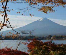 Beautiful Mount Fuji scenery Stock Photo 08