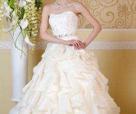 Beautiful charming bride in wedding luxurious dress Stock Photo 18