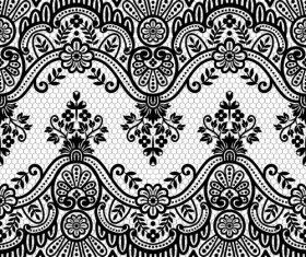 Beautiful lace seamless borders vector material 01