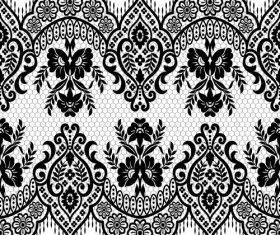 Beautiful lace seamless borders vector material 02