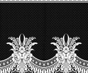 Beautiful lace seamless borders vector material 03