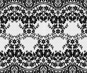 Beautiful lace seamless borders vector material 04