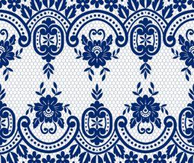 Beautiful lace seamless borders vector material 05