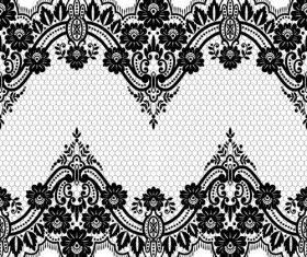 Beautiful lace seamless borders vector material 06